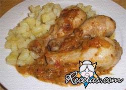 Pollo con salsa de cacahuetes