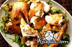 Pollo parrillero a la manteca especiada