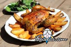 Pollo asado crujiente