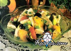 Pollo con frutas