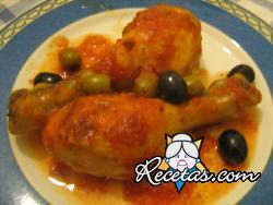 Pollo con olivas