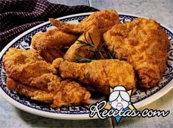 Pechugas de pollo rebozadas