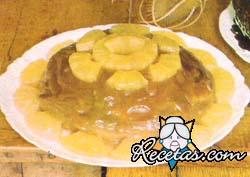 Postre de ananás y marrons