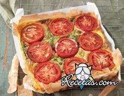 Quiche de tomates y puerros