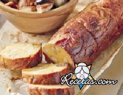Rollo vegetariano con calabaza y champiñones