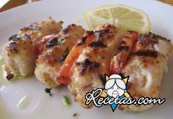 Rollos de pescado en salsa de limón