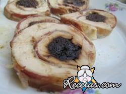 Roulade de pavo con crema de papas