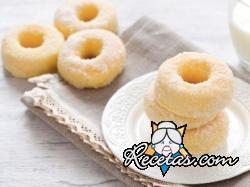 Rosquillas con leche condensada