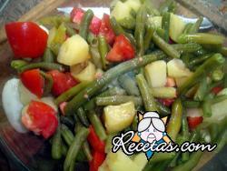 Salpicón de habichuelas verdes y jamón