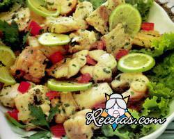 Salpicón de pescados en salsa verde