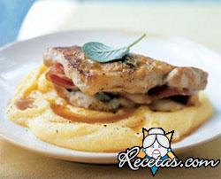 Saltimbocca con polenta gratinada
