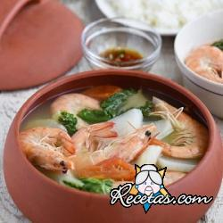 Sinigang (sopa filipina de gambas)