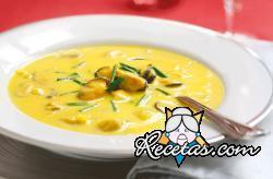 Sopa fría de mejillones