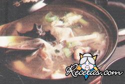 Sopa china de pollo