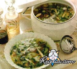 Sopa de gallina