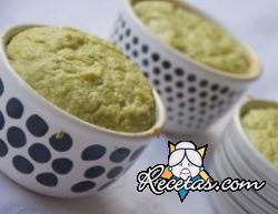 Soufflé de broccoli y queso azul