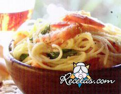 Spaghetti con langostinos