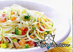 Espaguetis con vegetales