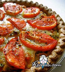 Tarta de cebolla y tomate