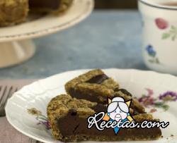 Tarta de chocolate con con masa frola al café