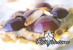 Tartaletas de foie con uvas al oporto