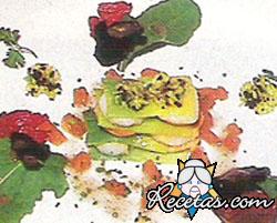 Tartare de besugo y salmonetes