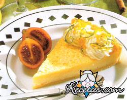Tarta de limón con corteza escarchada