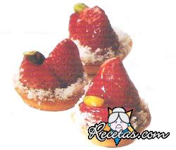 Tartaletas de frutilla y pistacho