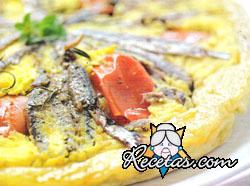 Tatin de tomates confitados y sardinas