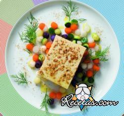 Tofu grillado con confites vegetales
