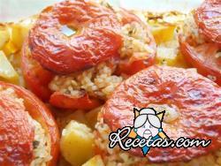 Tomates rellenos con arroz