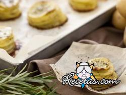 Torres de patatas asadas