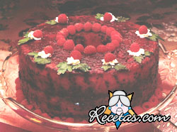 Torta chiffon sin azúcar