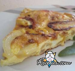 Tortilla de cebollas horneada