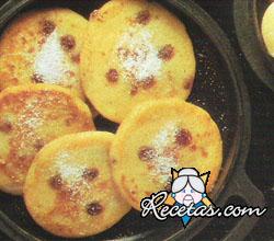 Tortitas de papas con pasas