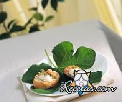 Tostón con higos, jamón y quezo azul