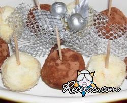 Trufas dulces con pan dulce sobrante