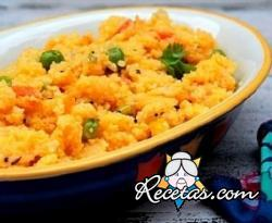 Upma de verduras con harina de maíz