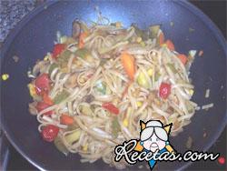 Verduras rehogadas al estilo chino (microondas)