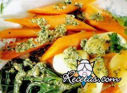 Verduras en salsa verde