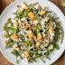 Ensalada de judías verdes, queso feta y nueces