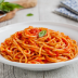 Espagueti con salsa de tomate