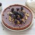 Tarta de chocolate y moras