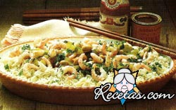 Receta de arroz con camarones al curry